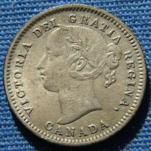 *VERY NICE LOOKING 1880-H CANADA 10 CENTS QUEEN VICTORIA - ESTATE FRESH*