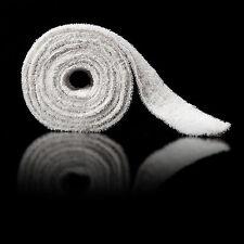 Bademantelgürtel Walkfrottier 100 % Baumwolle weiß 185 cm Ersatzgürtel