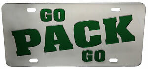 Green Bay Packers Go Pack Go Chrome License Plate
