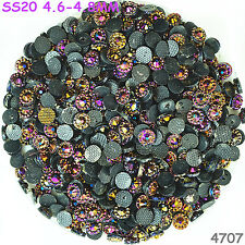 1000pcs SS20 4.8mm Rose Viole AB Hot-fix Crystal Acryl Rhinestone Beads Flatback