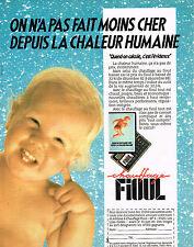 PUBLICITE ADVERTISING 104  1989  CHAUFFAGE AU FIOUL