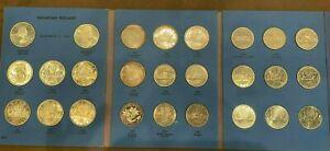 1958-1981 26 PC. BU CANADA SILVER DOLLAR COLLECTION 12 SILVER!!!!..STARTS @ 2.99