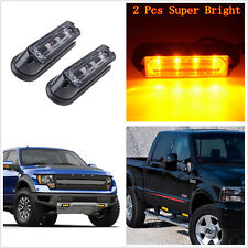 2pcs 4 LED Amber w/ 17 Different Flashing Pattern Super Bright Strobe Lights DRL