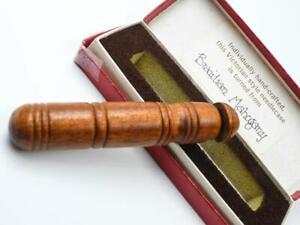 Wooden Hand Turned Victorian Style Brazilian Mahogany Needlecase - Wales UK