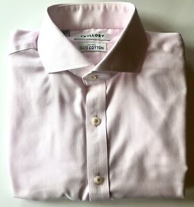 Twillory Pink Tailored Slim-Fit Non-Iron Men's Dress Shirt 16, 34/35