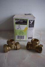 Kuterlite 22mm Brass Compression Fitting Tee Piece ( 10 No. )