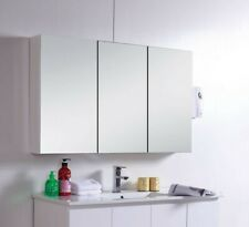 Mirror Cabinet Shaving Medicine Bathroom 1200wx700hx150d Wall Hung or In-wal