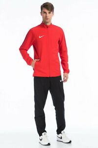 NIKE  ACADEMY 18 WOVEN MEN`S TRACKSUIT 893709 657 RED / BLACK