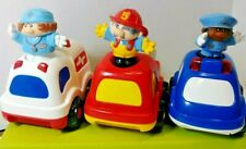 Little Tikes Working Emergency Vehicles Lot Fire Truck Police Car Ambulance