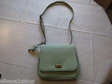Fossil ZB5407314 Memoir Small Flap Pastel Green twist lock Leather purse NWT^^