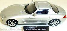 Mercedes SLS AMG Coche Deportivo Camión plata NUEVO 1:43 µ