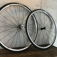 700c Road Wheel Set Real Clincher Black 10s Shimano 5600 130mm 24h 10 Speed