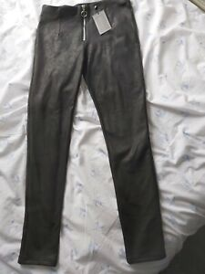 Redial Leather Look Leggings Trousers Large 10 12