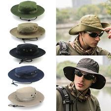 Hombres Mujeres Sol Sombrero Cubo Pesca Senderismo Gorra Ala Ancha Protección UV Sombreros De Pesca