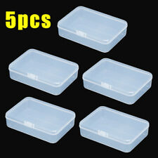 5x Small Plastic Clear Transparent Container Case Storage Box Organizer Portable