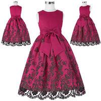 Boda Fiesta de Noche Damas Honor Vestido Princesa Cumpleaños 2-12 Años