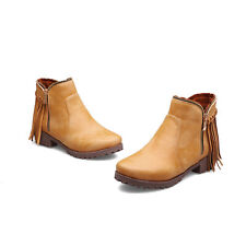 Bootie Womens Ankle Boots Shoes Round Short-Boots Shoes British Casual Ladys New