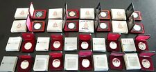 Lot Of 18 Canada Silver Dollars 1971-1989 - Specimen And Proof #coinsofcanada