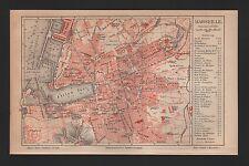 Landkarte city map 1888: Stadtplan MARSEILLE. Süd-Frankreich france Europa