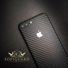 SopiGuard Carbon Fiber Vinyl Skin Full Body Wrap for Apple iPhone 8 Plus
