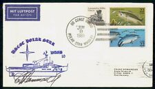 Mayfairstamps US 1989 USCGC Polar Star Fish Combo Autograph Cover wwg_72229