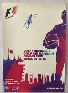 Sebastian Vettel signed official poster FORMULA 1 Gulf Air Bahrain GP 2017. RARE