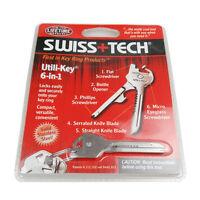 6 In 1 Swiss+Tech Utili Key Tool Keyring Keychain Multifunction Pokect Tools New