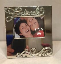 """Things Remembered Picture Frame """"Friends"""" Silver Tone"""