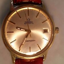 Omega automatic Seamaster date adjust watch 565 movement gold plated case