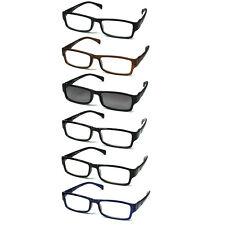 6-pack Spring Hinges Reading Glasses Unisex (5+1 Sunglasses Reader)