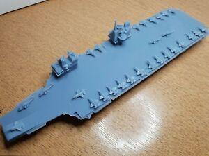 HMS Queen Elizabeth Aircraft carrier 1:1200  design Waterline Model