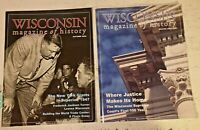 WISCONSIN MAGAZINE OF HISTORY Lot of 2, 2002 2003 WI Historical Society, Vintage