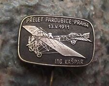 Engineer Kaspar First Czech Flight Aircraft Aviator Aviation Pioneer Pin Badge
