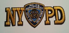 "NYPD Police Department~New York~NYC~Embroidered Patch~4 1/2"" x 2""~FREE US Mail"