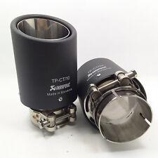 Universal Exhaust Tip Inlet 6.0~6.3cm, Outlet 8.9cm Carbon Fiber Full Cover