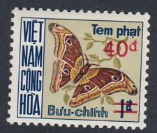 SOUTH VIETNAM:1974 Postage Due (Butterflies) 1p surcharged 40d SGDSD470m MNH