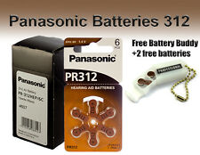 60 Panasonic Hearing Aid  Batteries Size 312 + Free Keychain/2 Extra Batteries
