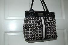 "Tommy Hilfiger handbag black and tan ""H"" design purse"