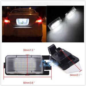 LED License Number Plate Light Lamp For Nissan 350Z 370Z GT-R Infiniti G35 G37