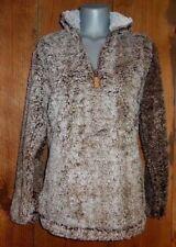 NWT KATYDID SHERPA FLEECE sweatshirt pull-over western SPORTS shirt Brown SMALL
