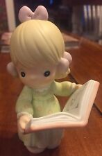 """Precious Moments """"Our Family"""" Little Girl Holding Our Family Book"""