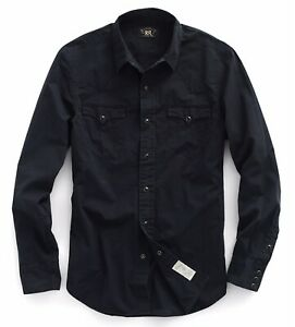 RRL Ralph Lauren Vintage Inspired Cotton Western Shirt-MEN- XXL