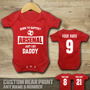 Arsenal - Born to Support - Baby Vest Suit Grow
