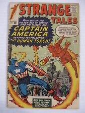 *STRANGE TALES #114 vg 1st Silver Age Captain America 3rd Doctor Strange