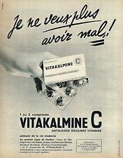 PUBLICITE ADVERTISING 024   1963   VITAKALMINE     vitamine C