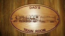DAD'S TRAIN ROOM SIGN / wooden / railroad / train / woodworking / laser cut gift