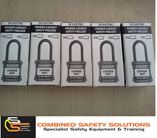 Lockout Tagout LOTO Premium Red Safety Padlock 42mm (Set of 5 With Master Key)