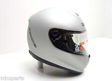 NEU! G-MAC Helm MAGNUM Fiberglas Helmet Racinghelm Größe / Size M Matt Silber