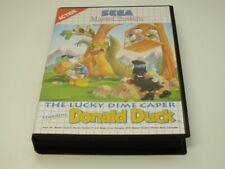 !!! SEGA MASTER SPIEL Donald Duck The Lucky Dime Caper GUT !!!