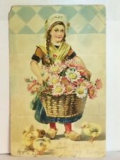 PostCard A Bright And Happy Easter Greeting Germany Posted 3-30-1907 Vintage